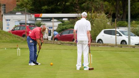 Sidmouth Croquet. Ref shsp 27 17TI 6460. Picture: Terry Ife
