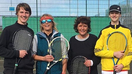 The successful Sidmouth Tennis Club mixed A team that will play next season in Division Two of the W