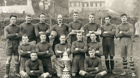 Sidmouth RFC with the Devon Senior Cup after their success in the 1930 final. Picture: SRFC