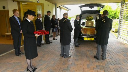 Coronavirus restrictions meant that just a small gathering of family could attend the funeral of Joh