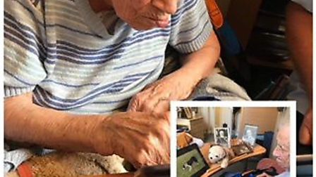 Topsy really enjoys watching dog videos on the iPad. Picture: Arcot House