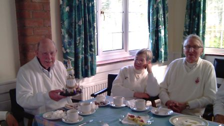 Enjoying tea during a Seagull Trophy success for Sidmouth against Budleigh. Picture SCC