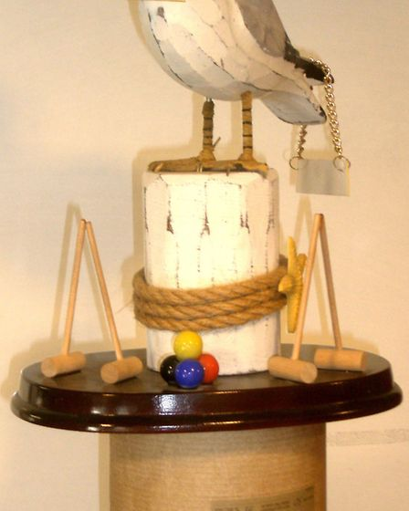 The Sea Gull Trophy that is contested by Sidmouth and Budleigh croquet clubs. Picture SCC