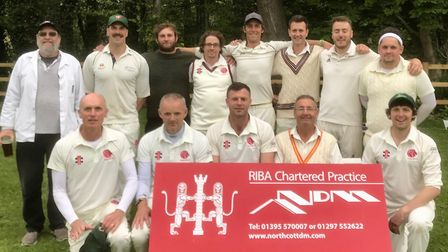 Sidbury CC before their third straight win in the Tolchards Devon League H Division East. Picture SI