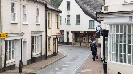 Ottery St Mary town centre. Ref sho 12 20TI 7853 Picture: Terry Ife