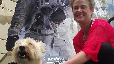 Jo and Archie the dog. Picture: Jo Earlam