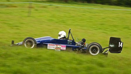 Ottery St Mary driver Ed Hollier in action at Wiscombe Park. Picture Howie Fowler at 569 Motorsports