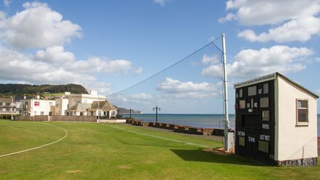 Sidmouth cricket clubs nets. Ref shs 36 19TI 9347. Picture: Terry Ife