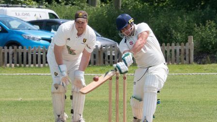 Alex Clements batting for Ottery against Alphington. Ref shsp 23 19TI 1020740. Picture: Terry Ife