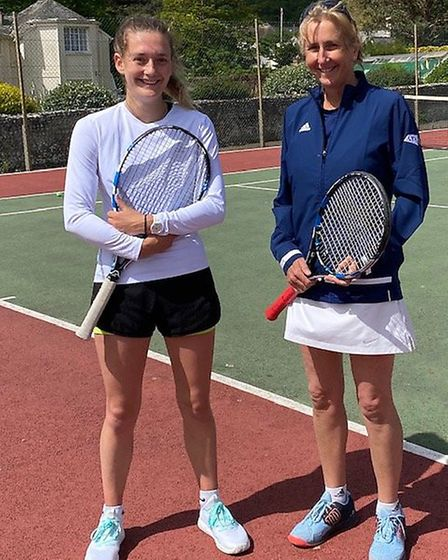 Sidmouth Tennis Club's mother and daughter duo, head coach Sue Wiltshire and assistant coach Katie.