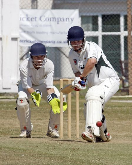 Matt Hewer batting for Sidmouth 2nds during their match against Cornwood. Photo by Terry Ife ref shs