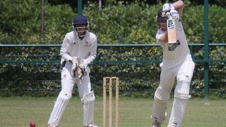 Sidmouth batsman Henry Gater in action at Exeter. Picture GERRY HUNT