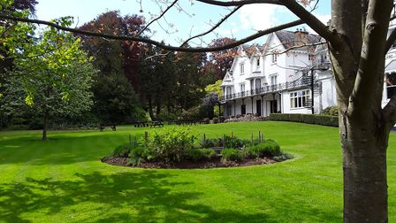 The front of the hotel and part of its grounds. Picture: John McGregor