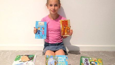 Esme Bromley, who completed her Book Track reading challenge despite libraries closing during lockd