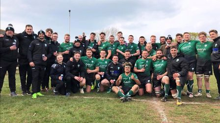 Sidmouth RFC after winning the 2018/19 league title. Picture; SRFC