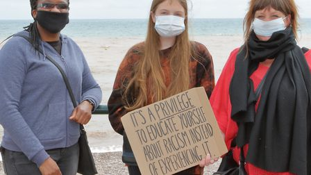 The Black Lives Matter gathering on thet seafront. Picture: Paul Ryder