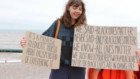 The Black Lives Matter gathering on the seafront. Picture: Paul Ryder