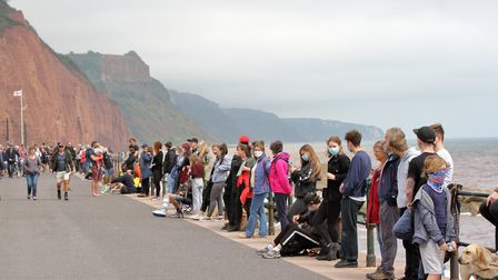 Participants observed social distancing guidelines along the seafront. Picture: Paul Ryder