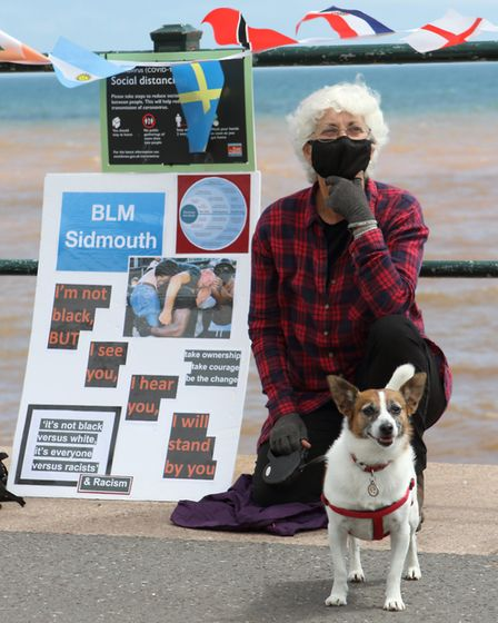 The Black Lives Matter gathering in Sidmouth. Picture: Paul Ryder