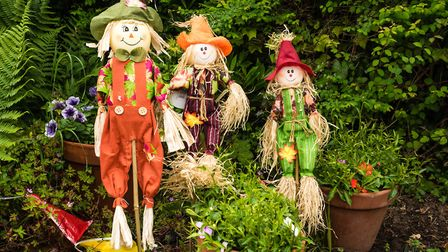 Amy Roles and her family enjoyed the East Budleigh Scarecrow festival. Picture: Peter Bowler