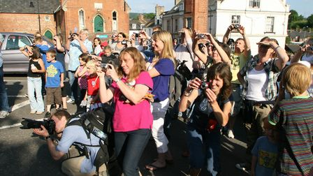 Ottery St Mary's Pixie Day 2010. The cameras were out in force!; Picture by Alex Walton. Ref sho 625