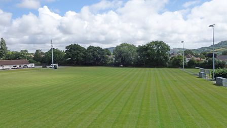 The Manstone Lane home of Sidmouth Town looking superb in mid-June thanks to the supreme efforts of