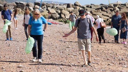 Sidmouth beach clean up from 2019 Picture: Terry Ife