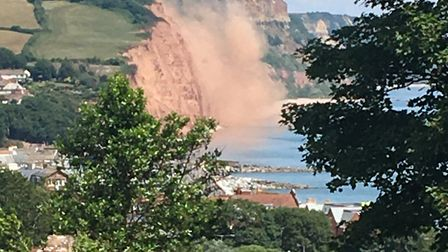 The latest cliff collapse in Sidmouth. Picture: Kate Hudson