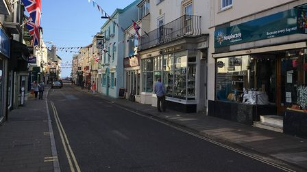 Parts of Sidmouth will be pedestrianised for three months