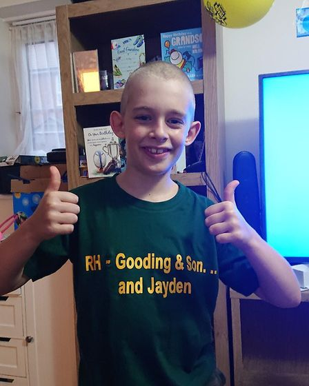 Ten-year-old Jayden Rowland-Phillips, from Ottery, is pleased with his new hair cut. Picture: Leanne