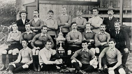 Sidmouth RFC after their 1896 win of the Devon Senior Cup. Picture SRFC