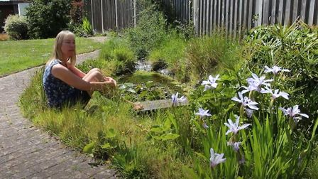 Lucy in her garden. Picture: The Wheelers