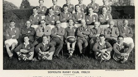 The Sidmouth RFC team that won no fewer than 35 matches in the 1951-52 season. With teams i the mode