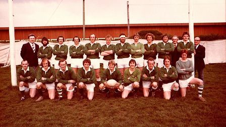 The Sidmouth RFC 1xt XV from the 1977/78 season. Picture: SRFC