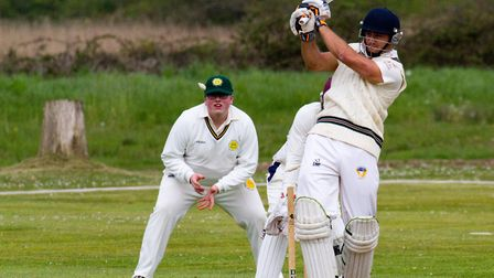 Sidmouth batsman Zac Bess at Budleigh. Ref shsp 16 17TI 1446. Picture: Terry Ife