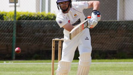 Alex Barrow batting for Sidmouth at home to Exmouth. Ref shsp 20 19TI 4762. Picture: Terry Ife