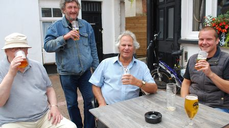 Customers at the Anchor Inn. Picture: Mark Eburne