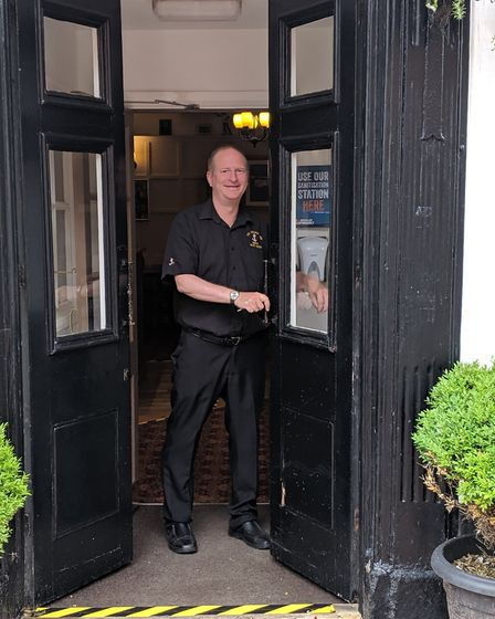 The Anchor Inn's manager Steve Aggett prepares to welcome back regulars. Picture: Mike Deary