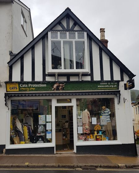 The Cats Protection charity shop in Sidmouth. Picture: Cats Protection