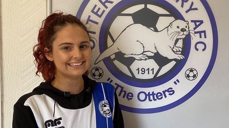 Otterettes goalkeeper Shannon Newman-Davis who has signed with the club for another season and will