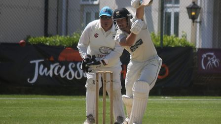 Josh Bess batting for Sidmouth in the win over North Devon. Picture GERRY HUNT