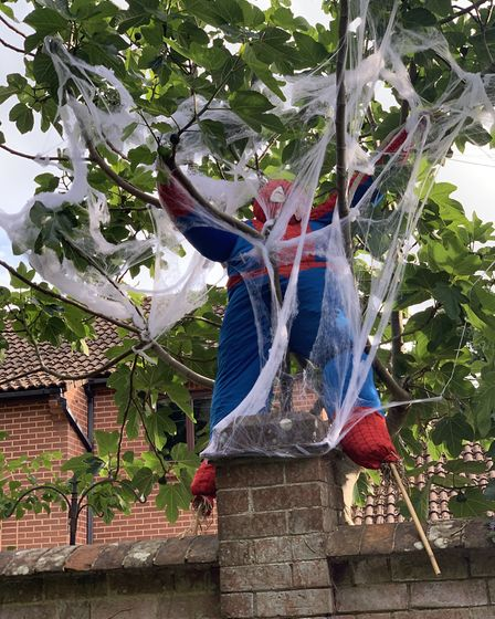 Spiderman by Noah and Freddie Davies. Picture: Noah and Freddie Davies