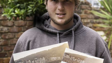 Kyle Baker with the small A5 book and the larger limited-edition version. Picture: Kyle Baker