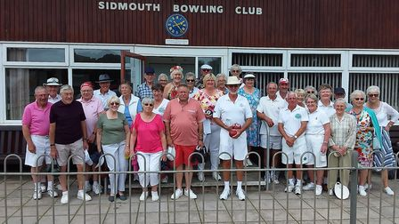 Sidmouth bowlers enjoying a July 2019 event. Picture SBC