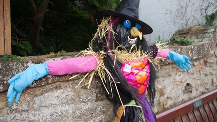 One of the Sidbury Fair Scarecrows from 2018. Ref shs 37 18TI 1206. Picture: Terry Ife