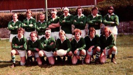 The Sidmouth RFC team that contested the 1978 Devon Cup final. Picture SIDMOUTH RFC