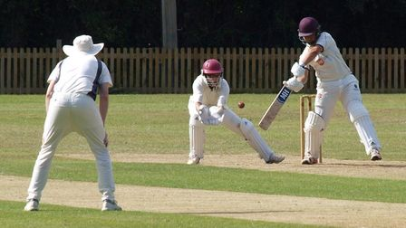 Action from the Ottery St Mary 2nd XI Devon League meeting with Honiton. Picture; ANDREW SYMONDS