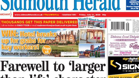 How you can help the Sidmouth Herald keep our community together and informed