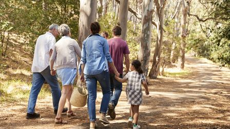 Countryside walks for the family. Picture: Getty Images