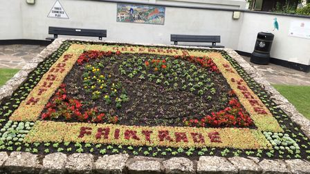 The Fairtrade display. Picture: Sidmouth In Bloom